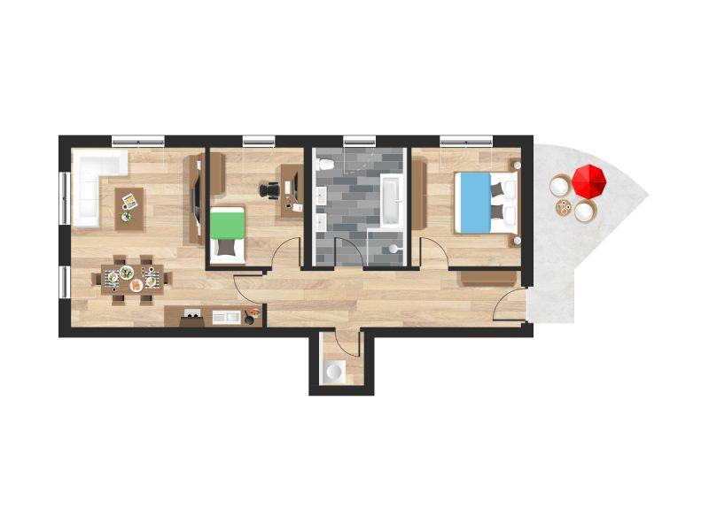 Wohnung in Straubing W01