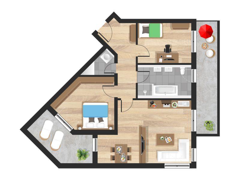Wohnung in Straubing W09